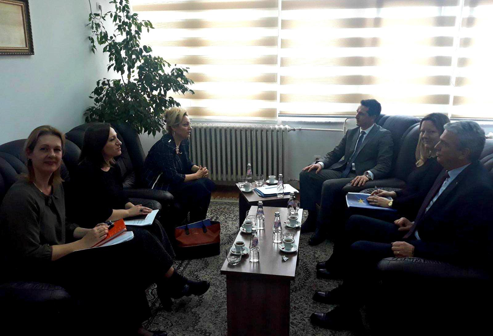 Chair Çoçaj hosted in a meeting the EU Ambassador to Kosovo, Nataliya Apostolova