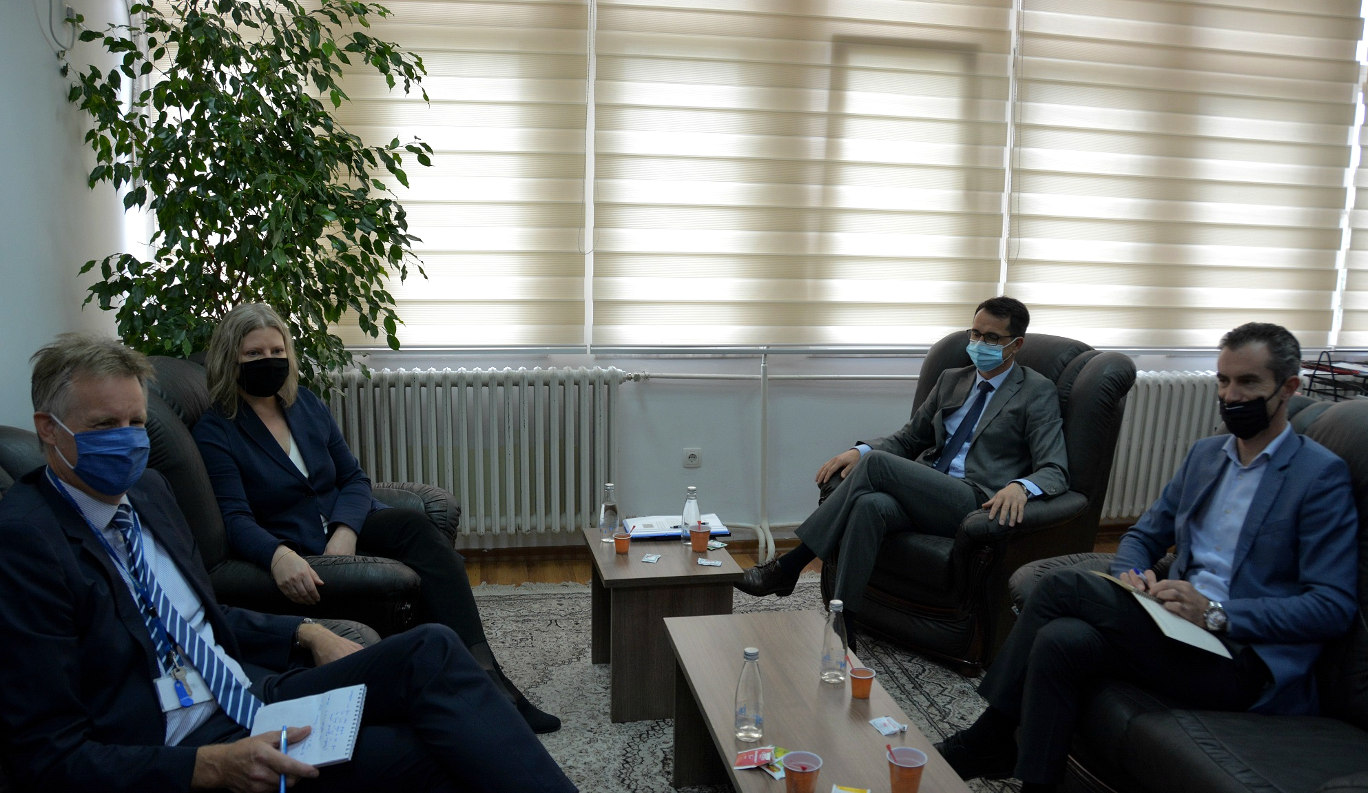 Kryesuesi Çoçaj priti në takim udhëheqësit e Njësisë së Monitorimit të EULEX-it