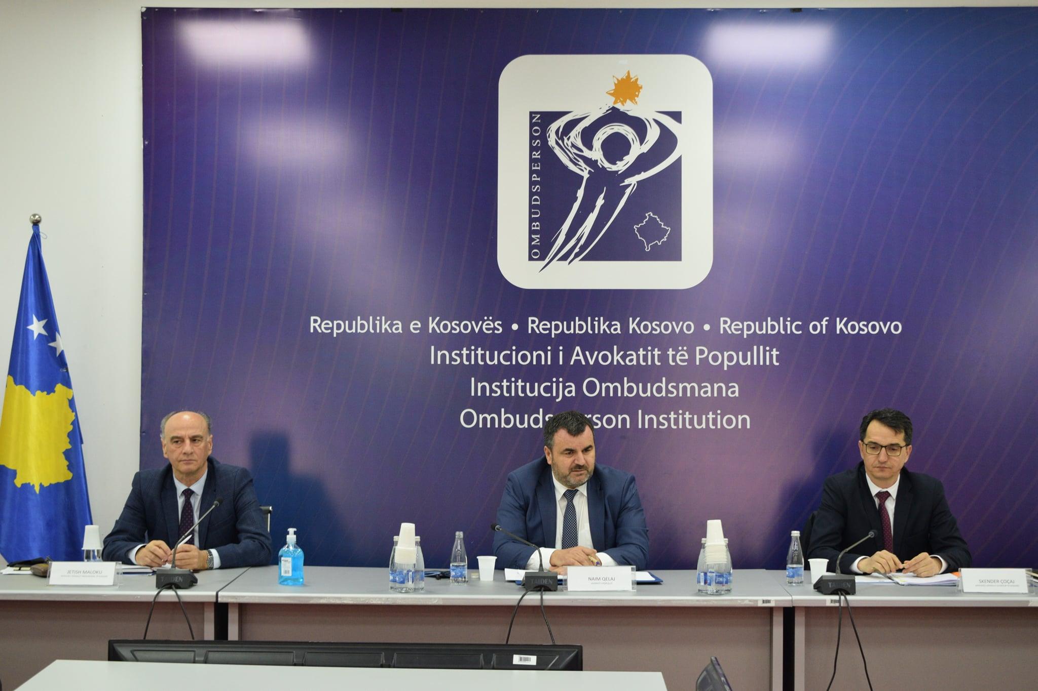 Çoçaj pjesë e takimit të përbashkët në mes të KGjK, KPK dhe Institucionit të Avokatit të Popullit