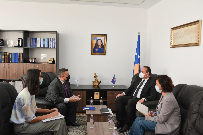 Predsedavajući SSK-a dočekao šefa Kancelarije Saveta Evrope u Prištini