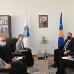 Kryesuesi Zogaj priti në takim përfaqësuesit e Zyrës së Bashkimit Evropian në Kosovë