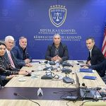 Zamenik predsedavajućeg Sudskog saveta Kosova, Qerim Ademaj i generalni direktor Sekretarijata SSK -a Shkelzen Maliqi dočekali su danas na sastanku predstavnike Sindikata sudstva